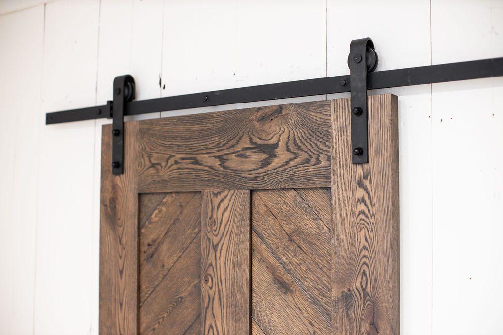 Image of Paisley Black Oil Finish on Sliding Barn Door