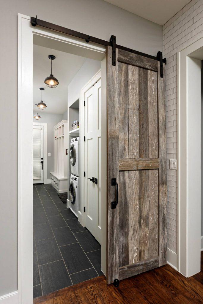 Image of Barn Door in laundry room