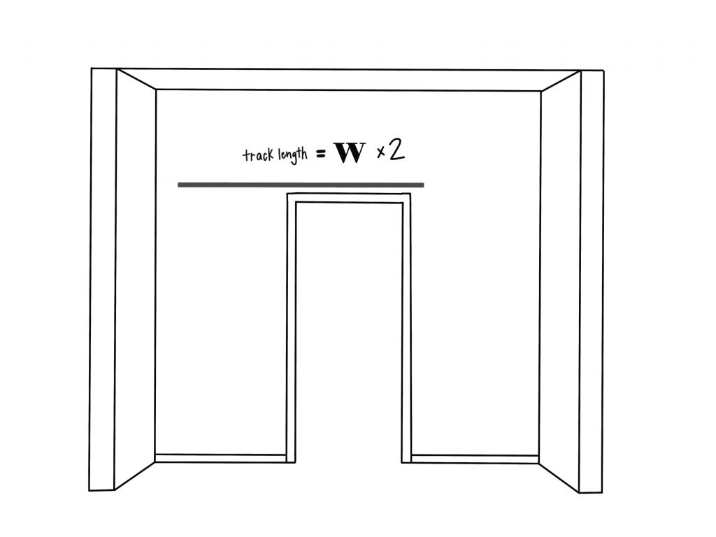 Image of 3 of 4 measuring for sliding barn door Sawmill Designs