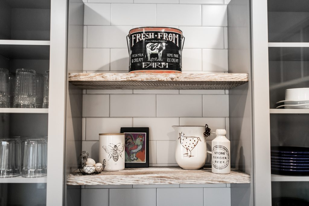 Image of wood shelving by Sawmill Designs