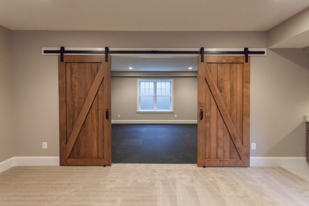 Double Barn Door Config DIY Rustic Sliding Doors