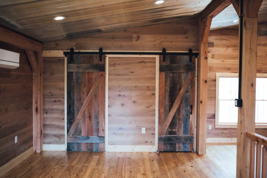 Rustic Barn Doors for Bathrooms by Sawmill Designs